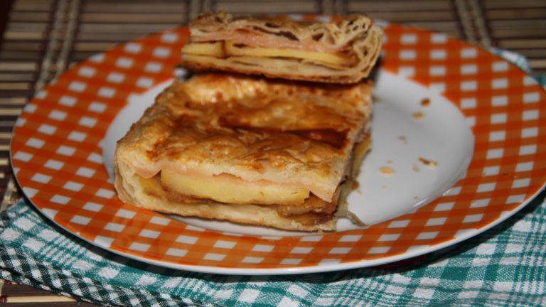 Torta salata patate e prosciutto cotto