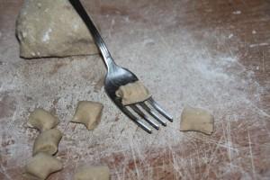 gnocchi di castagne e patate forma